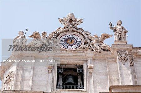 Horloge et Bell, cité du Vatican, Rome, Italie