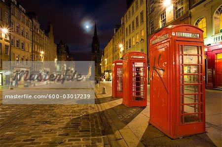 Vieille ville, High Street, le Royal Mile, Edinburgh, Ecosse