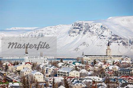 Mountain Esja and Reykjavik, Iceland