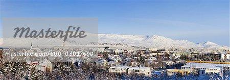 Montagne Esja et Reykjavik, Islande