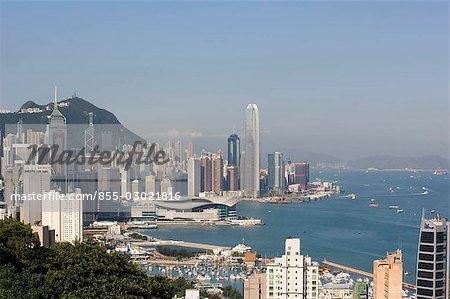 Hong Kong skyline from Braemer Hill,Hong Kong