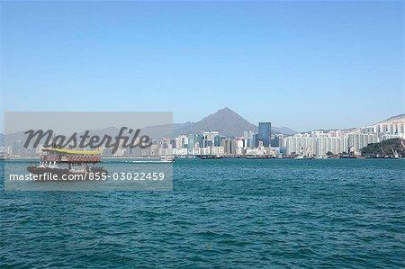 Kwun Tong pour horizon la baie de Kowloon, Hong Kong