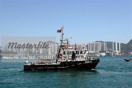 Bateau de la police de Victoria Harbour, Hong Kong