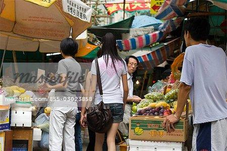 Food market,Garham Street,Central,Hong Kong