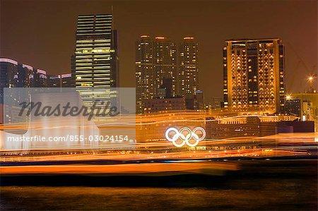 Tsimshatsui skyline from Wanchai,Hong Kong