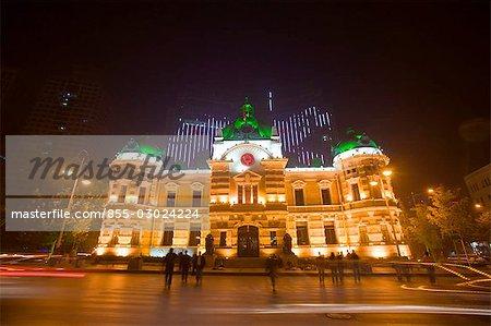 Bank of China building on Zhongshan Square,Dalian,China,Dalian China