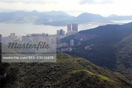 Vue aérienne de Chai Wan & Siu Sai Wan, Hong Kong