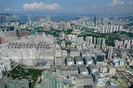 Vue aérienne sur Hung Hom, Kowloon, Hong Kong