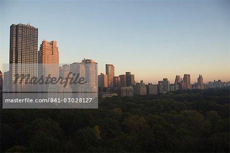 Découvre de Central Park, du Sud au nord, à la recherche, Manhattan, New York, New York État, États-Unis d'Amérique, l'Amérique du Nord