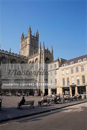 Bath Abbey, Bath, UNESCO World Heritage Site, Avon, England, United Kingdom, Europe