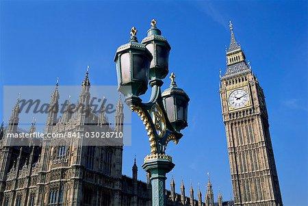 Big Ben et les maisons du Parlement, patrimoine mondial de l'UNESCO, Westminster, Londres, Royaume-Uni, Europe