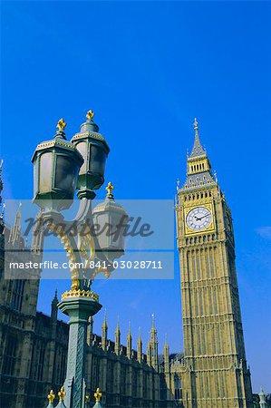 Big Ben, les maisons du Parlement, Westminster, Londres, Angleterre, RU