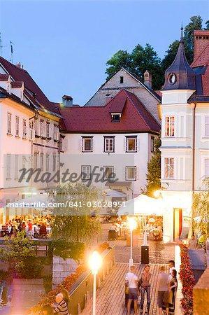 Soirée dîner, Ljubljana, Slovénie, Europe