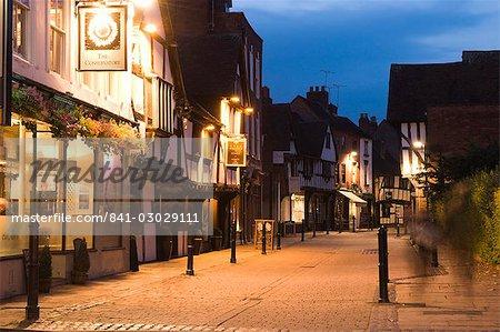 New Street, Worcester, Worcestershire, Angleterre, Royaume-Uni, Europe