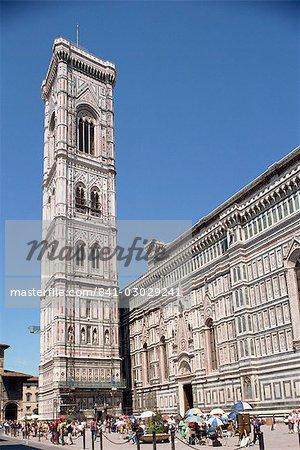 Le Dôme et le Campanile (cathédrale et clocher) à Florence, l'UNESCO World Heritage Site, Toscane, Italie, Europe