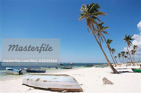 Côte sud, l'île de Saona, République dominicaine, Antilles, Amérique centrale