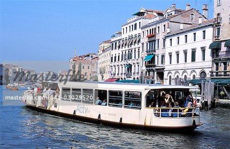 Vaporetto, Grand Canal, Venise, Vénétie, Italie, Europe