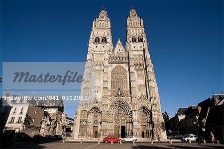 St. Gatien cathedral, Tours, Centre, France, Europe