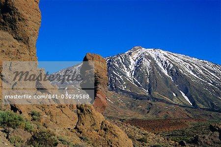 Le Teide et Las Roques, Tenerife, îles Canaries, Espagne