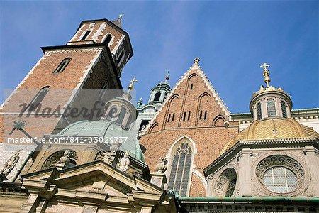 La cathédrale de Wawel, Cracovie, Pologne, UNESCO World Heritage Site, Europe