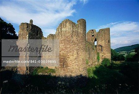 Grosmont, ruine de château du 13ème siècle, Grosmont, Monmouthshire, pays de Galles, Royaume-Uni, Europe