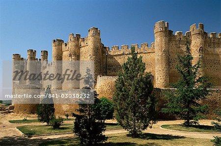 Murs du château, province de Valencia de Don Juan, Leon, Castille-León, Espagne, Europe