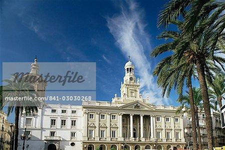 L'hôtel de ville, Cadiz, Andalucia, Espagne, Europe