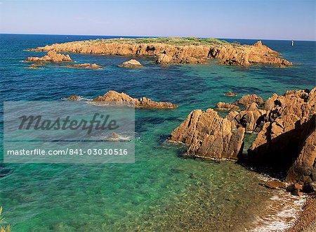 Esterel Corniche, près de St. Raphael, Var, Côte d'Azur, Provence, France, Méditerranée, Europe