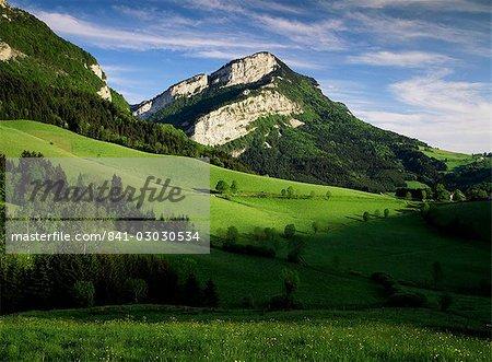 Campagne à proximité de Villard de Lans, Parc Naturel Régional du Vercors, Drome, Rhone Alpes, France, Europe