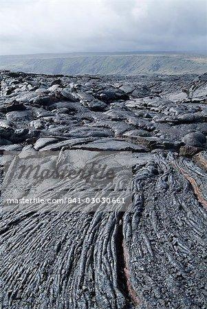 Refroidi par la lave de l'éruption récente, volcan Kilauea, Hawaii Volcanoes National Park, patrimoine mondial de l'UNESCO, l'île d'Hawaii (Big Island), Hawaii, États-Unis d'Amérique, Amérique du Nord