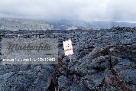 Coulée de lave, Kilauea, Hawaii Volcanoes National Park, patrimoine mondial de l'UNESCO, l'île d'Hawaii (Big Island), Hawaii, États-Unis d'Amérique, Amérique du Nord