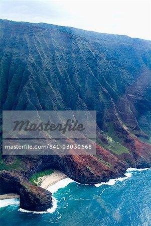 Na Pali, côte nord de l'île de Kauai, Hawaii, États-Unis d'Amérique, Pacifique, Amérique du Nord