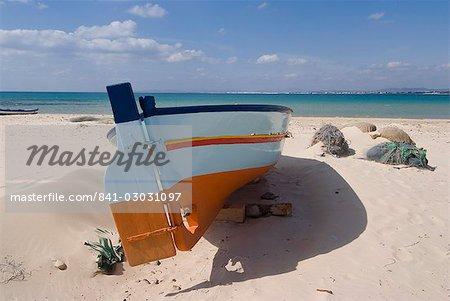 Pêche bateaux, Hammamet, Tunisie, l'Afrique du Nord, Afrique