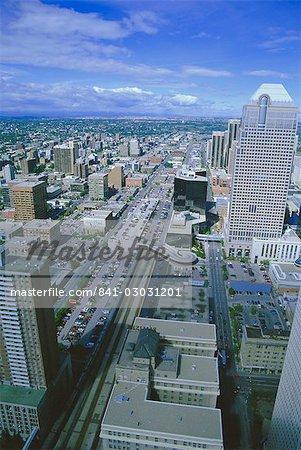 Vue de ville Tower, Calgary, Alberta, Canada, Amérique du Nord