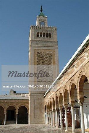 Mosquée, Tunis, Tunisie, Afrique du Nord, Afrique
