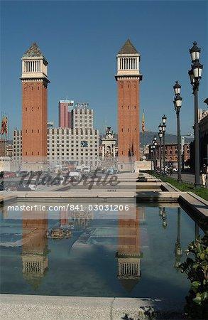 Placa Espanol, Barcelona, Catalonia, Spain, Europe