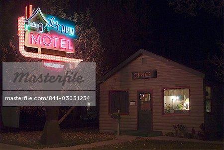 Log Cabin Motel, Montrose, Colorado, États-Unis d'Amérique, l'Amérique du Nord