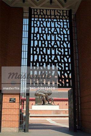 Diele der British Library, London, England, Vereinigtes Königreich, Europa