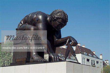 Statue von Newton durch Eduardo Paolozzi, British Library, London, England, Vereinigtes Königreich, Europa