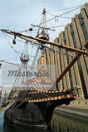 Ship's Replikat der Golden Hinde, Francis Drake, Southwark, London, England, Vereinigtes Königreich, Europa