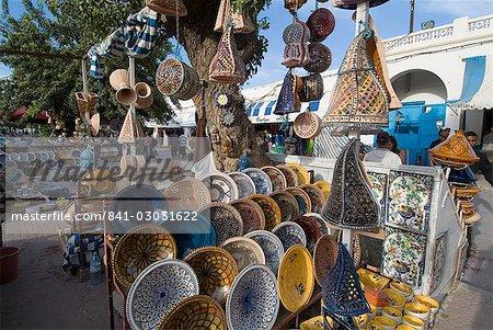 Marché, Houmt-Souk, île de Djerba, en Tunisie, l'Afrique du Nord, Afrique