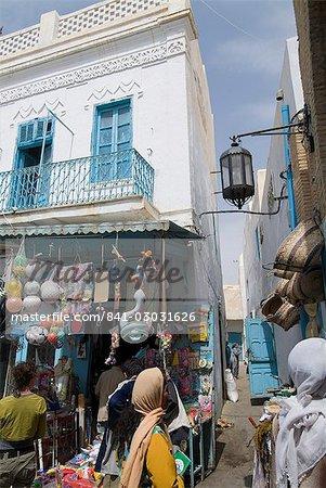 Marché, rue principale, Kairouan, Tunisie, Afrique du Nord, Afrique