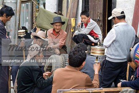 Barkhor, Lhassa, Tibet, Chine, Asie
