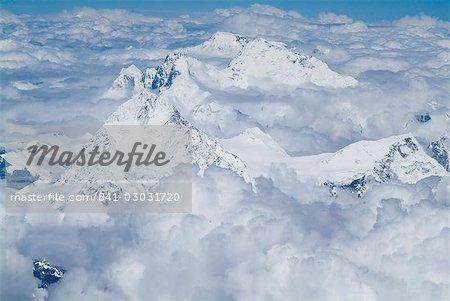 La frontière Mont Everest, Himalaya, Népal et Tibet, Chine, Asie