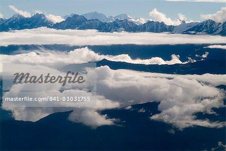 Himalaya vue, Népal, Asie
