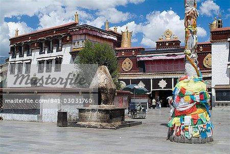 Temple de Jokhang, la plus vénérée structure religieuse du Tibet, Lhassa, Tibet, Chine, Asie