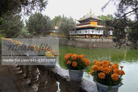 Palais d'Eté ancien de Dalai Lama, Lhassa, Tibet, Chine, Asie