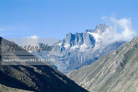 Vallée de Nyelam, par le biais de l'Himalaya, Népal, Asie