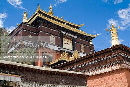 Monastère de Tashilumpo, la résidence des chinois nommé Panchat Lama, Tibet, Chine, Asie