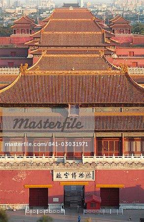 Cité interdite en haut, Beijing, Chine, Asie